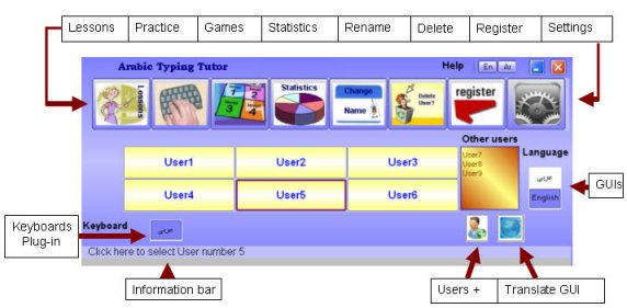 Click to view Arabic Keyboard Typing Tutor 4.6 screenshot
